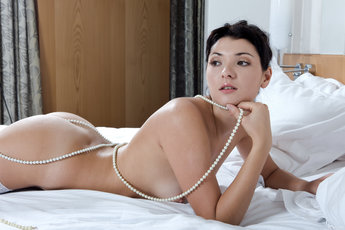 Karrin Is A Vision Of Loveliness In Thigh Highs And Pearls - Picture 10