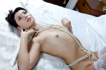 Karrin Is A Vision Of Loveliness In Thigh Highs And Pearls - Picture 14